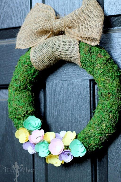 Spring Paper Flower Wreath