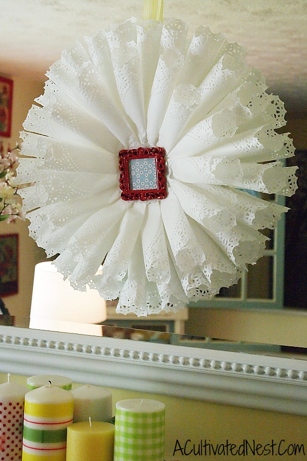 DIY Paper Doily Wreath