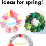 3 wreaths in a collage