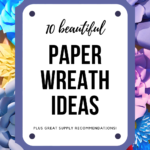 brightly colored paper flowers