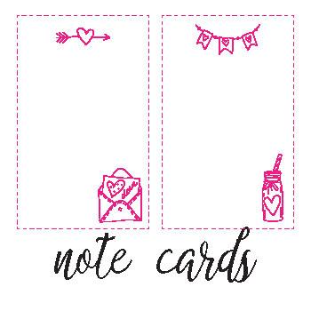 notecard printables