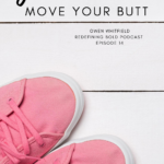 Pink sneakers on a white wooden floor