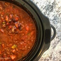 CrockPot Chili Recipe for a Big Crew!