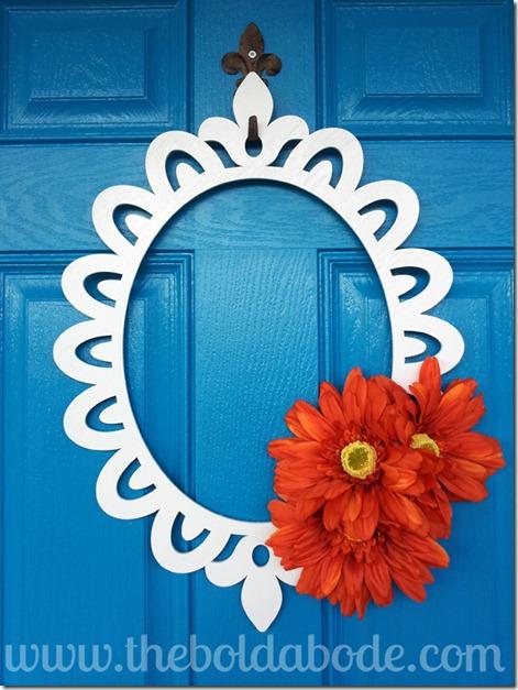 Close up of Wreath on Door