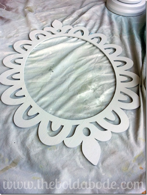 wreath spray painted