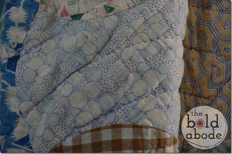 Blue Circles Vintage Fabric