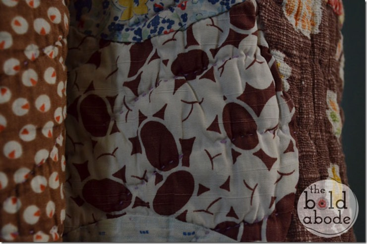 Brown and White Vintage Fabric
