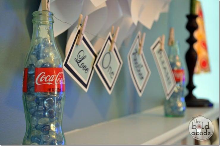 Message on some Coke Bottles