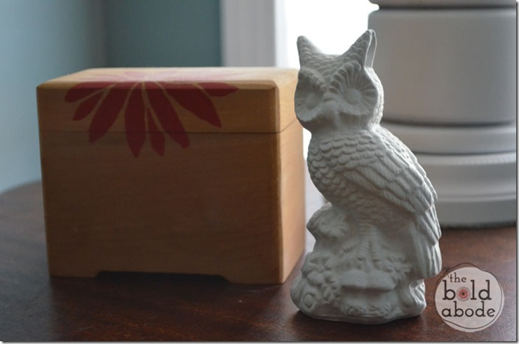 White Owl with Vintage Box from Primitive and Proper