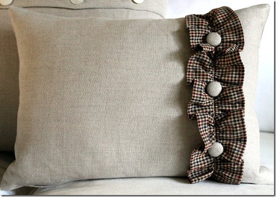Home Spun Ruffle Pillow