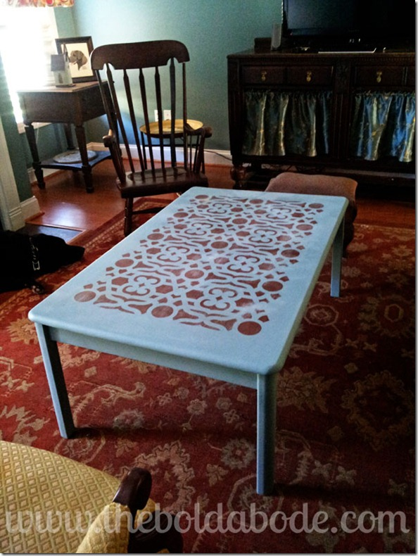 The Bold Abode Stenciled Coffee Table