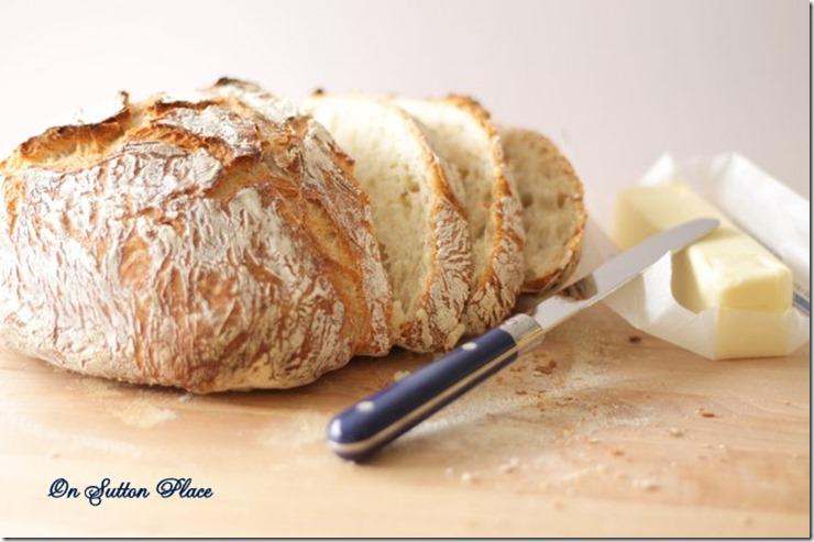 4 ingredient round bread sliced