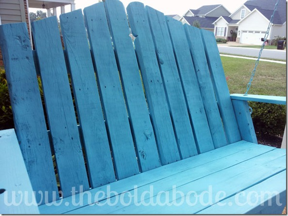Pallet Porch Swing in the Sun