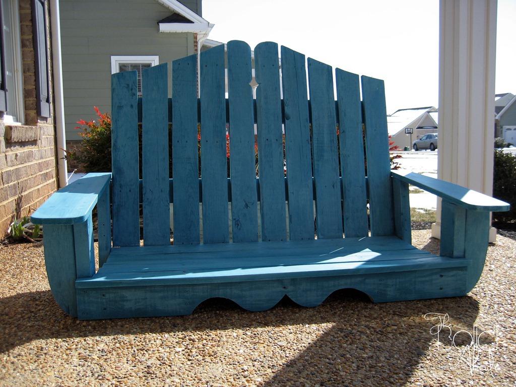 Pallet patio swing - Porch Swing Outside1