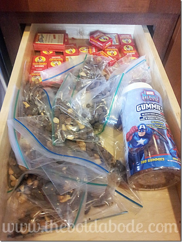 One drawer for healthy snacks