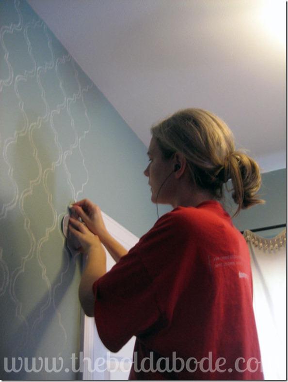 Stenciling Wall