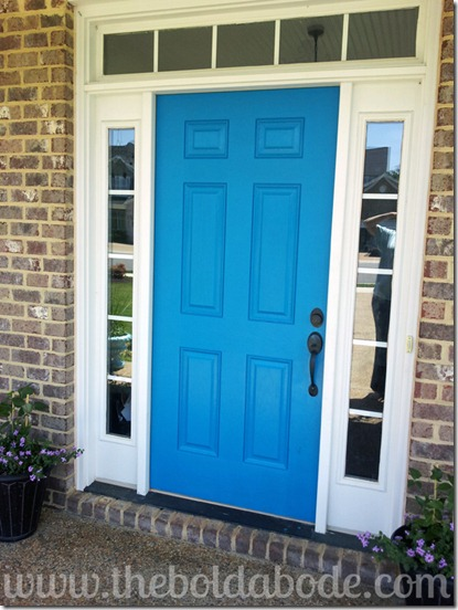 10 ways to shake up your home and make it your own - Pictures of blue front doors ...