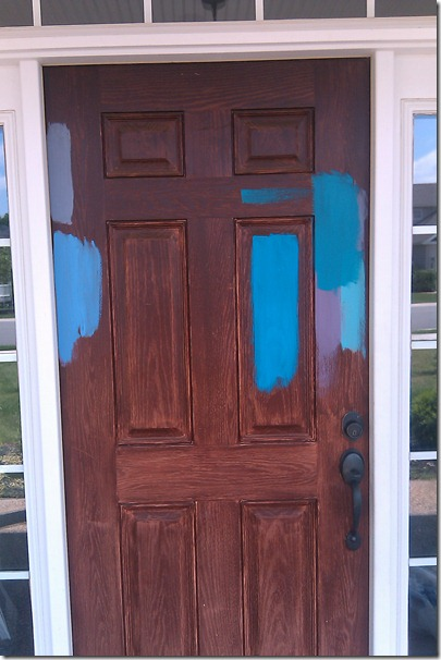 front door paint samples