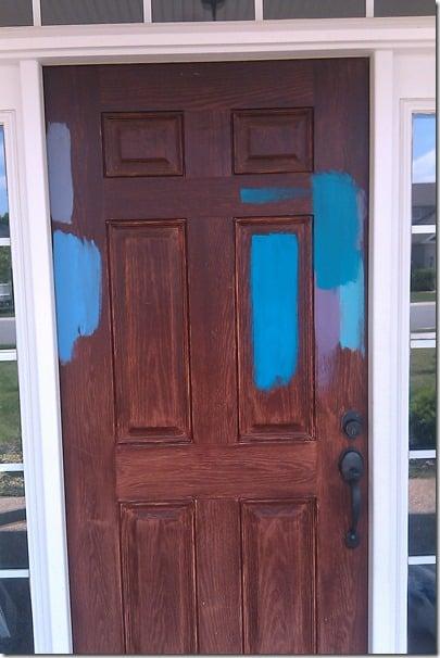 front door paint samples
